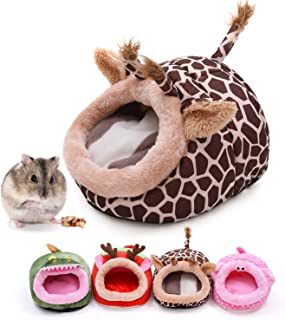 CROWNY Warm Small Pet Animals Bed —Guinea Pigs Bed,Hedgehog Winter Nest,Rat Chinchillas & Small pet Animals Bed/Cube/Hous...