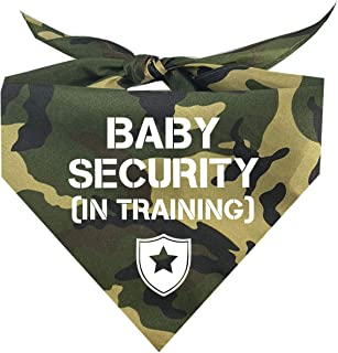 Baby Security in Training Printed Dog Bandana (Assorted Colors)