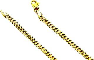 Collana da Uomo in Oro Giallo 18kt (750) Catena Maglia Grumetta Cm 50