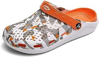 COOPCUP Zuecos para hombre sandalias de jardín masculino zuecos de verano ligeros zapatillas casuales zapatos