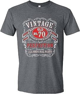 Birthday Gifts Men, 30th, 40th, 50th, 60th, 70th, 80th, 90th T-Shirts, Tee