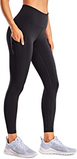 CRZ YOGA Women's Naked Feeling High Waist Tummy Control Stretchy Sport Running Leggings with Out Pocket-25 Inches