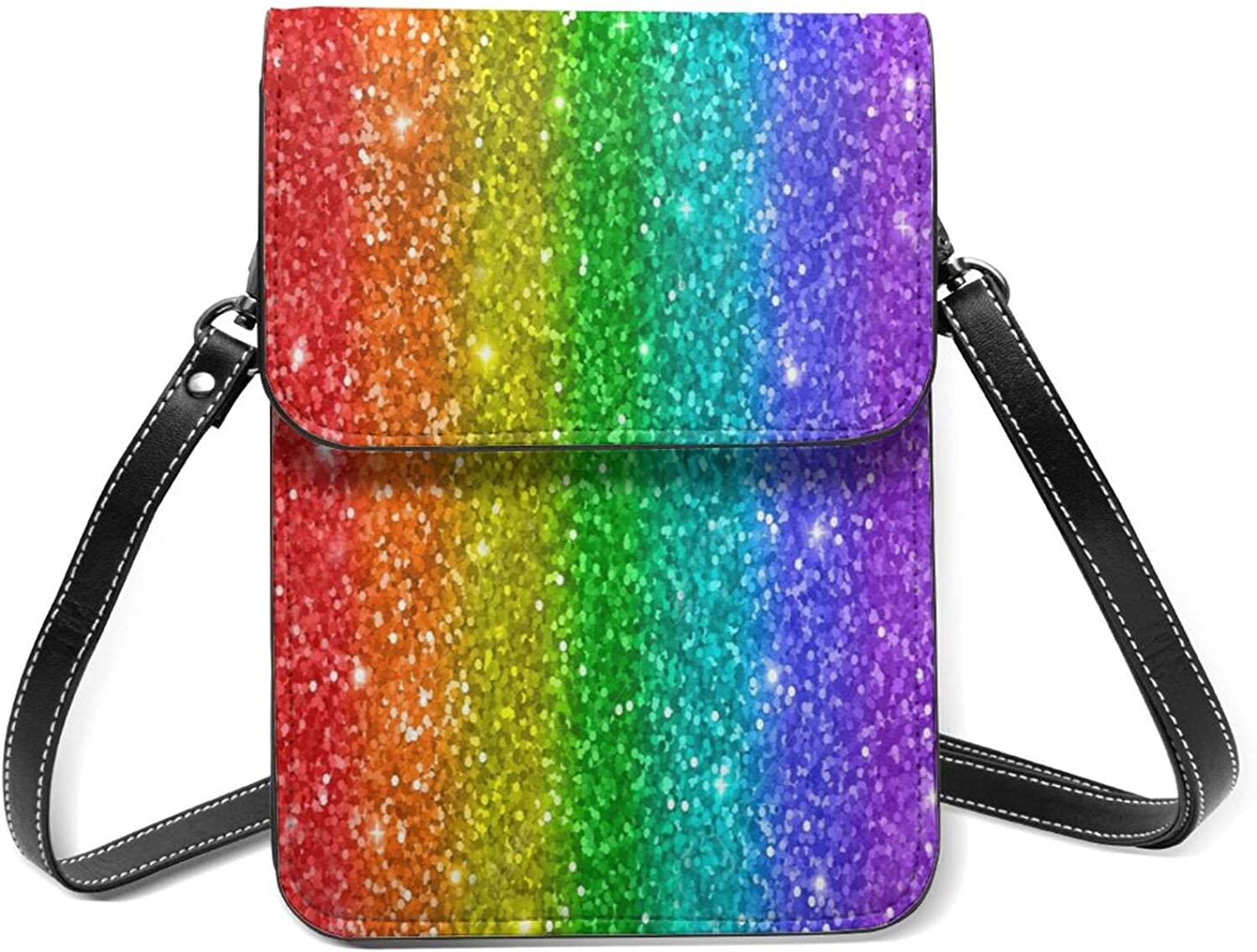 Sparkling Rainbow Fashionable Small All items free shipping Cell Phone Purse Flip S Lightweight With