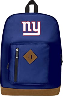 """Officially Licensed NFL New York Giants """"Playbook"""" Backpack, Blue, 18"""" x 5"""" x 13"""""""