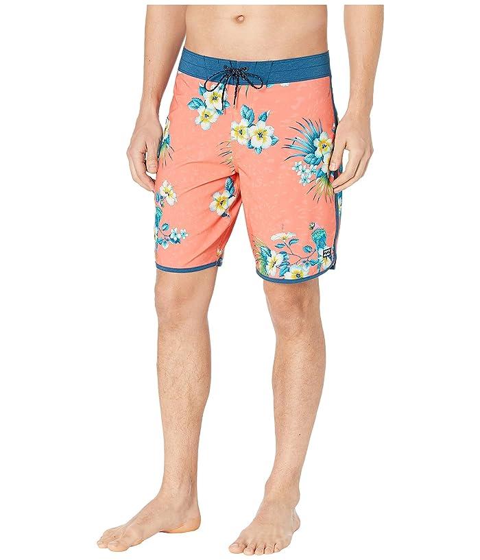 Vintage Men's Swimsuits – 1930s to 1970s History Billabong 73 Line Up Pro Neon Melon Mens Swimwear $45.99 AT vintagedancer.com