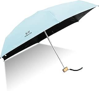 Paraguas Plegable de Viaje Compacto Sheng Xuan Ultraligero Mini Paraguas Sombrilla Prueba de Viento(95% De Resistencia UV) Paraguas Proteccion del Sol Mujer Chica a su Compañero íntimo(Azul)