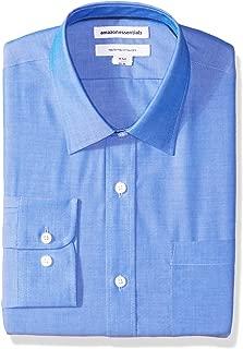 Men's Regular-Fit Wrinkle-Resistant Long-Sleeve Solid Dress Shirt