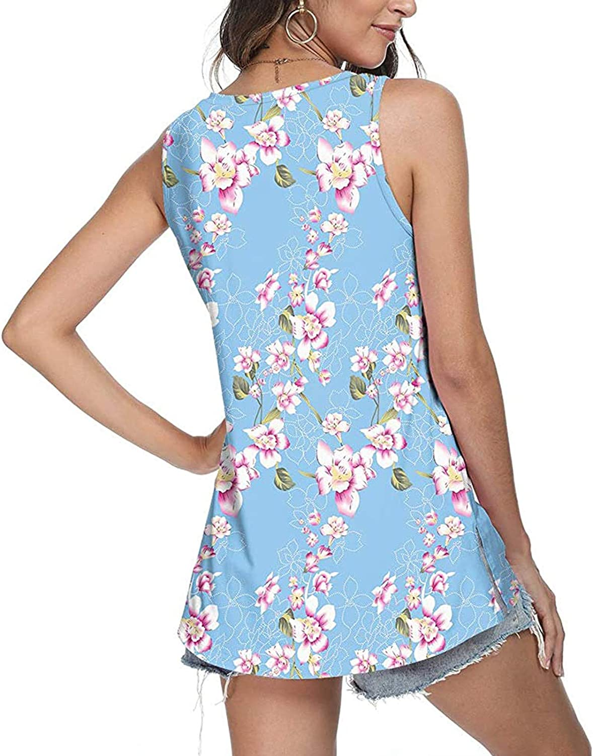 Gerichy Summer Tank Tops for Women, Womens Summer Tops Casual V Neck Tank Tops Loose Fit Sleeveless Shirts Tees Tops