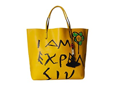 Vivienne Westwood Punk Leather Shopper (Yellow) Handbags