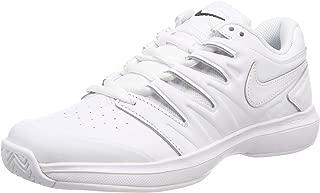 Nike Men's Air Zoom Prestige Leather Tennis Shoes (White/White, 8 M US)