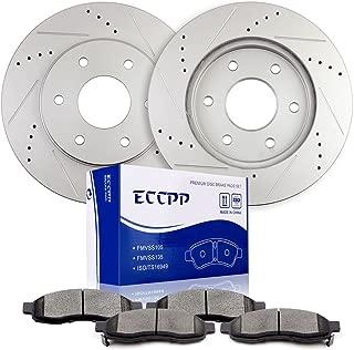 ECCPP Front 320mm Discs Brake Rotors and Ceramic Brake Pads for 2004-2005 Infiniti QX56,2004-2005 Nissan Armada,2004-2005 Nissan Titan