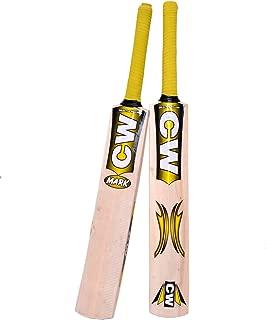 C&W Junior Cricket World Genuine Premium Quality Perfect Rubber/Tennis Ball Kashmir Willow Cricket Bat Size No.5 Best For 9-10 Yr Boys/Kid/Child Full Short Handle Mix Cane Free Bat Case Cover