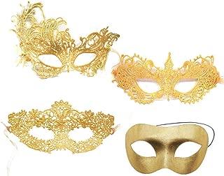 Best gold black masquerade mask Reviews