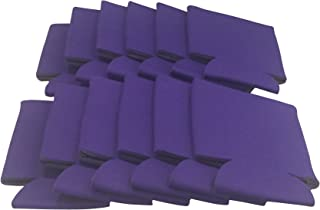 CSBD Beer Can Coolers Sleeves, Soft Insulated Reusable Drink Caddies for Water Bottles or Soda, Collapsible Blank DIY Customizable for Parties, Events or Weddings, Bulk (12, Purple)