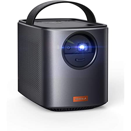 Nebula, by Anker, Mars II 300 ANSI Lumen Home Theater Portable Projector with 720p 30 to 150 Inch DLP Picture, Home Entertainment, 10W Speakers, Android 7.1, 1-Second Autofocus, Movie Projector