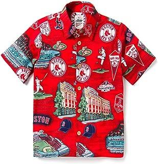Boys' Big Boston Red Sox MLB Classic Fit Hawaiian Shirt