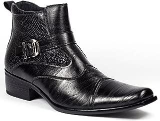winklepicker boots cuban heel