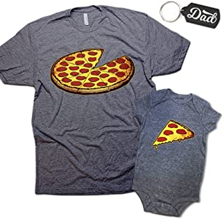 2357a5cda Funny Pizza Pie & Slice Dad & Baby Matching Clothing Set First Halloween  Costume