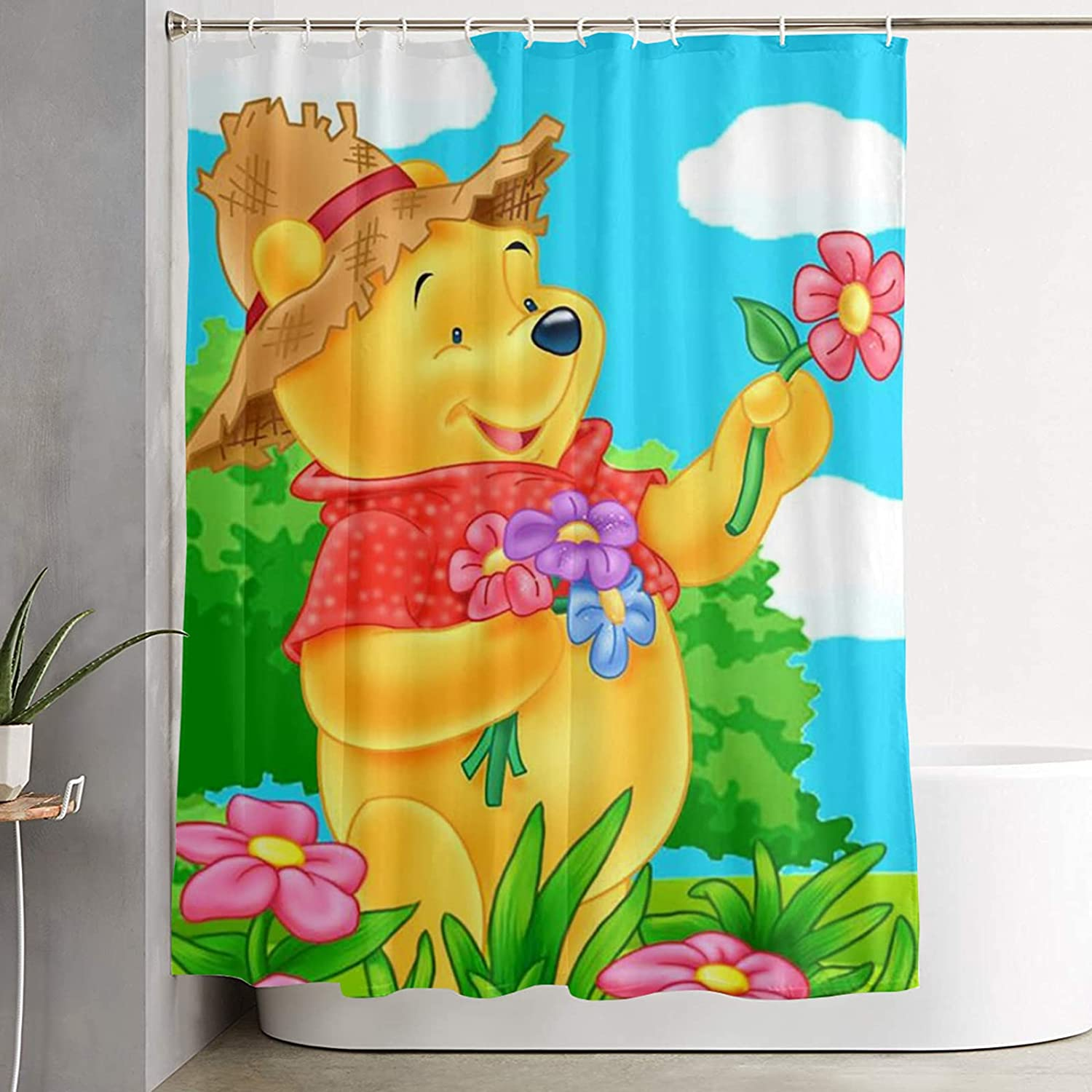 Winnie The Pooh Shower Large special price !! Curtain Fabricpolyester C Decor Durable 5% OFF