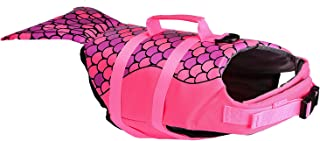 PETLOFT Dog Life Jacket, Adjustable Pet Safety Floatation Vest Life Preserver for Swimming/Boating/Beach Playing, Two Cute Patterns Available