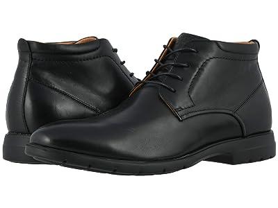 Florsheim Westside Plain Toe Chukka Boot (Black Smooth) Men