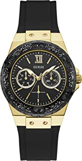 Guess W1053L7 Analog Silicone Casual Watch For Women - Black Gold