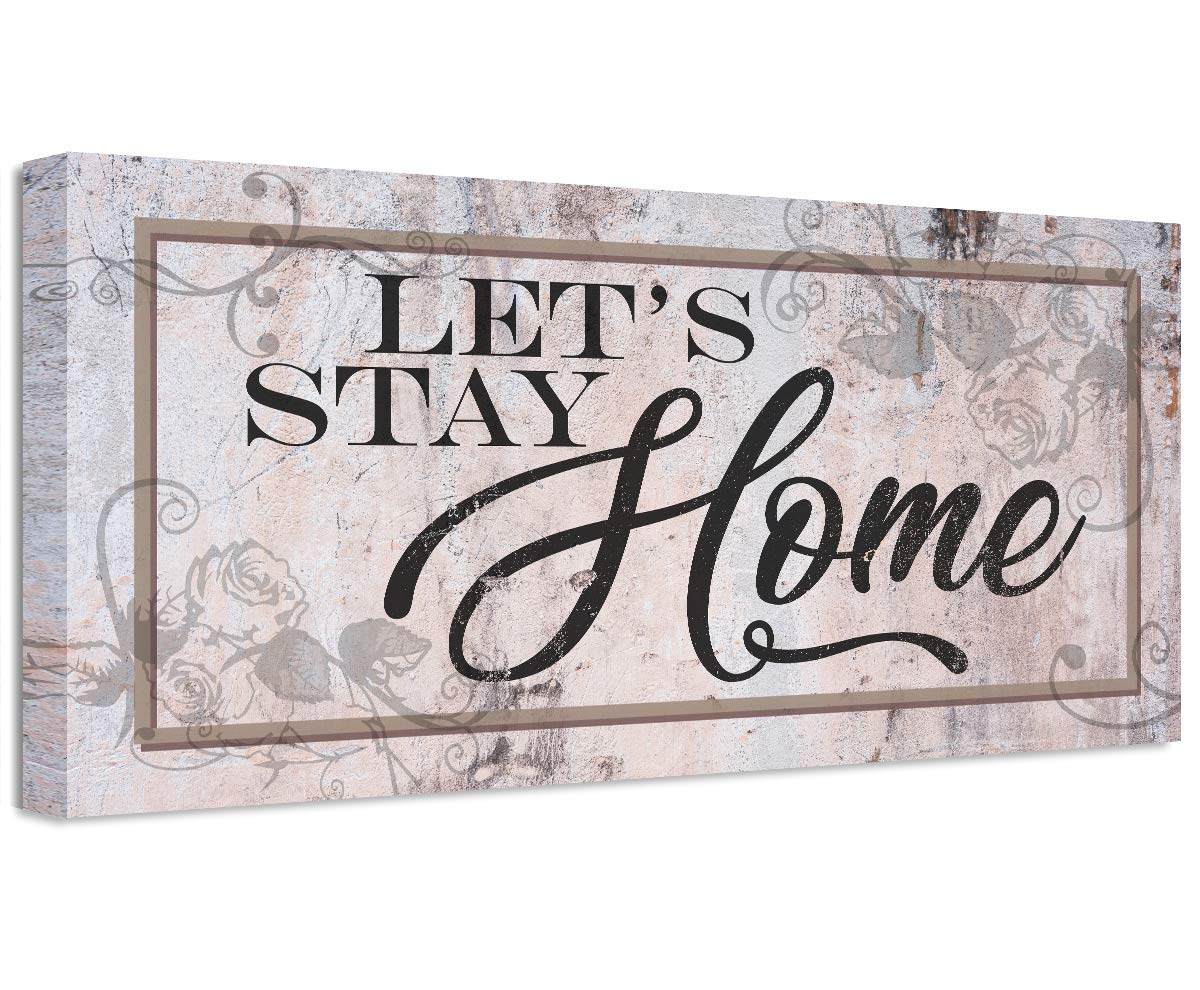 Let's Stay Home New Shipping Free - Unframed Print Quality inspection Great Room a Makes Dec Living