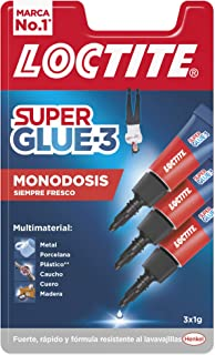 Loctite Super Glue-3 Original Mini Trio, pegamento universal con triple resistencia, adhesivo transparente, pegamento inst...