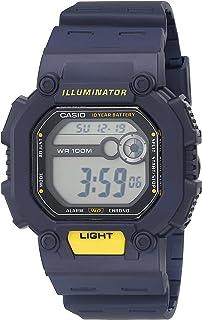 ساعة كاسيو بنظام رقمي كوارتز من البلاستيك المطاطي - ازرق، 42 كاجوال موديل W-737H-2AVCF)