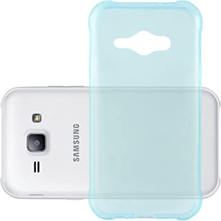 Cadorabo Case Works with Samsung Galaxy J1 ACE in Transparent Blue – Shockproof and Scratch Resistant TPU Silicone Cover – Ultra Slim Protective Gel Shell Bumper Back Skin
