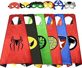 Birthday Presents Gifts for 3-10 Year Old Boys Cartoon Super Hero Satin Capes Dress up for Kids Party Favor Toys for 3-10 Year Old Boys RKUSPF006