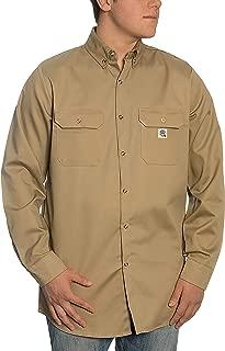 8.1 oz FR Shirt - Fire Resistant Shirt - Work Shirt - Welding Shirt (X-Large, Khaki)