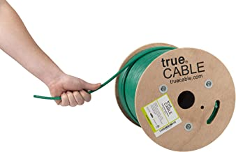 Cat6 Shielded Riser (CMR), 500ft, Green, 23AWG Solid Bare Copper, 550MHz, ETL Listed, Overall Foil Shield (FTP), Bulk Ethernet Cable, trueCABLE