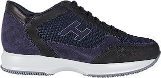 Luxury Fashion   Hogan Men HXM00N0Q101O8L4126 Blue Suede Sneakers   Autumn-winter 20