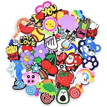 Child Gifts 50pcs Mixed Glowing Shoe Charms Shining Decoration fit Garden Shoes