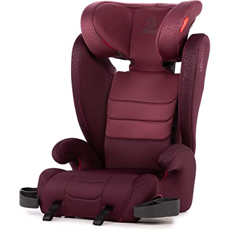 Diono Monterey XT Latch, 2-in-1 Belt Positioning Booster Seat with Expandable Height/Width, Plum