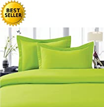 Elegant Comfort 4-Piece 1500 Thread Count Egyptian Quality Hypoallergenic Ultra Soft Wrinkle, Fade, Stain Resistant Bed Sheet Sets with Deep Pockets, Queen, Lime-Neon Green