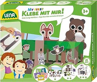 Lena 42631 Mitt Första Hantverk Skogsdjur Set för Barn, Flerfärgad, 27 st