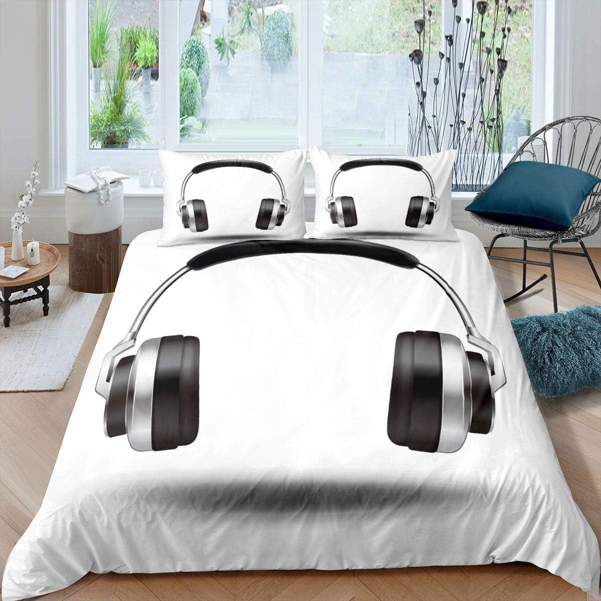 Erosebridal Headphones Comforter Cover Rock Duvet 海外 販売 Gr Music