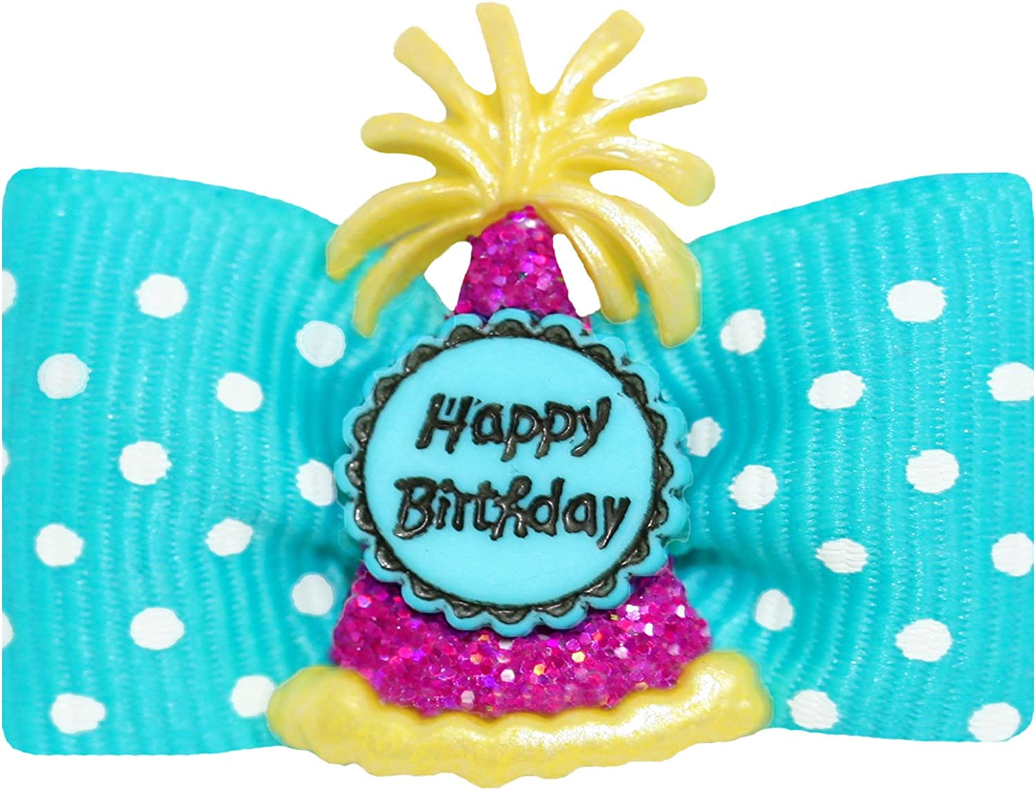 Hot Bows Birthday Bash with a French Clip for Dogs