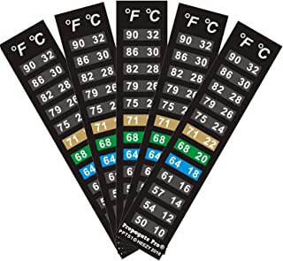 Stick On Thermometer Strip, Digital Temperature Display for Fermenting, Brewing, Wine, Beer, Kombucha or Aquariums. 50-90F...