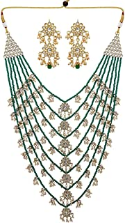 Jaipur Mart Alloy Metal Gold Plated Kundan Necklace Set for Women/Girls (KN201$P)