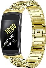 Gear Fit 2 Armband, RuiRdot Vervangende Accessoires Band met Bling-Strass Verwisselbare Schakels Horlogeband Compatibel me...