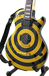 Miniature Guitar Zakk Wylde Yellow Black Bullseye