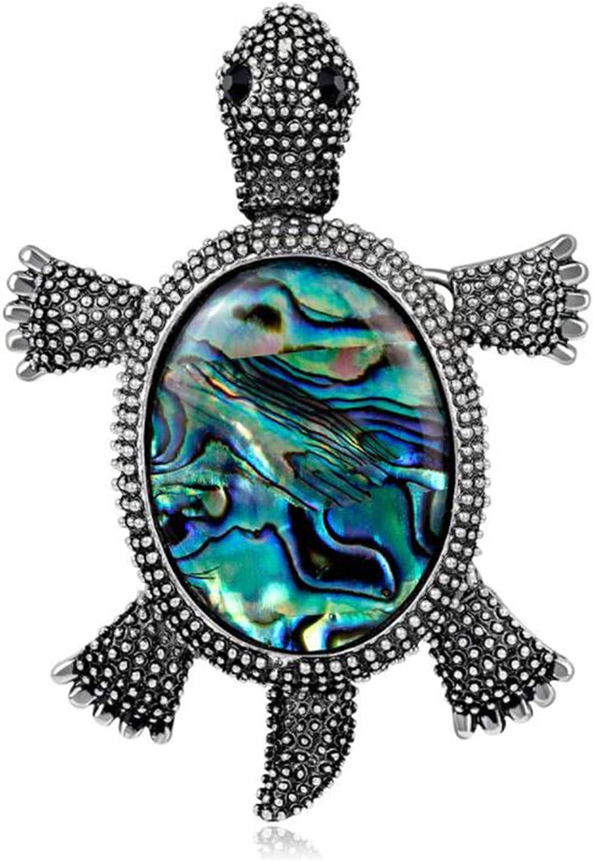 ZALING Vintage Turtle Popular popular Brooch Pins Fort Worth Mall Big Rhinestone Tortois Women's