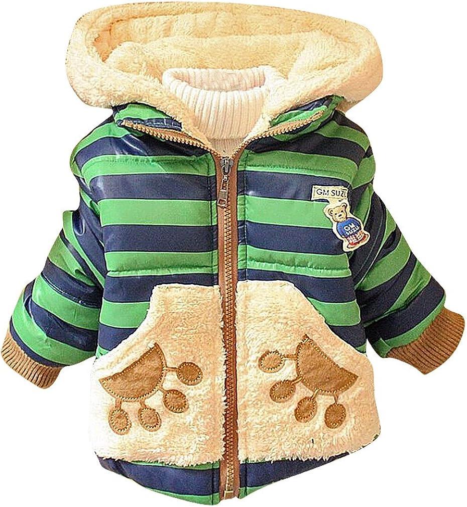 BPrince Kids Quilted Zip Up Fleece Panda Applique & Lining Hooded Winter Jacket