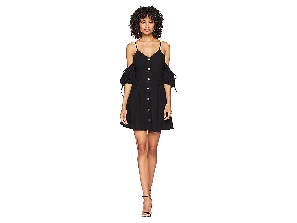 J.O.A. - J.O.A. Cold Shoulder Button Up Dress