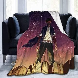 Flannel Fleece Throw Blanket for Winter Hotel Airplane, Super Cozy HeroAca Bnha Anime Dabi Starry Galaxy Fanart Moving Blanket, Warm Lightweight 50x40 Inch