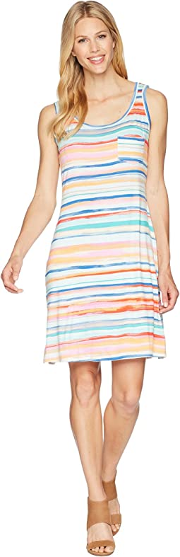 Printed Jersey Sleeveless Dress with Pocket
