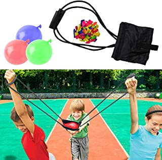 WhizBuilders Water Balloon Launcher Water Balloons Slingshot Cannon 3 Persona Balloon Launcher 250 Yard – Outdoor Water Game for Kids and Adults